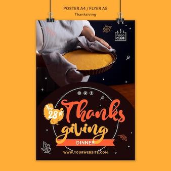 Uroczysty szablon wydruku dziękczynienia