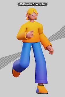 Uruchomiona postać renderowania 3d