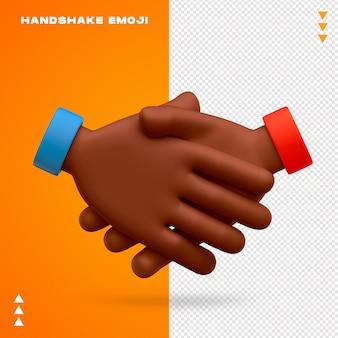 Uścisk dłoni emoji na białym tle
