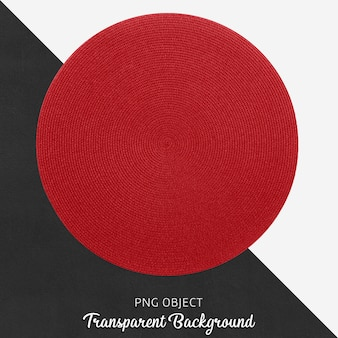 Usługa transparentna wiklina i czerwona runda