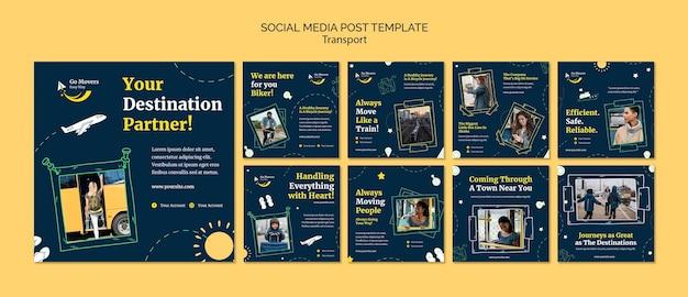 Usługa Transportu Post W Mediach Społecznościowych Premium Psd