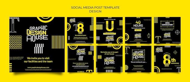 Usługi projektowania graficznego posty w mediach społecznościowych