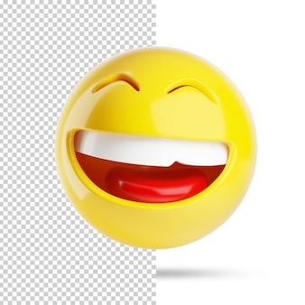 Uśmiechnięta twarz emoji 3d