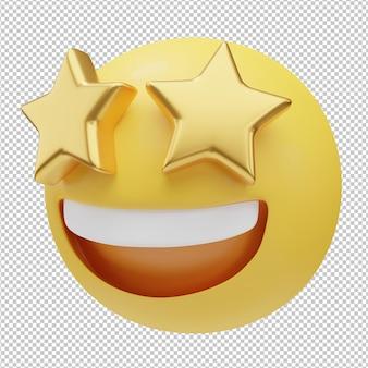 Uśmiechnięta twarz emoji ilustracja 3d