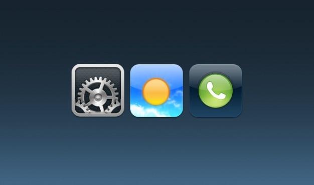 Ustawienia, pogoda, ikony ios telefon
