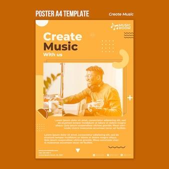 Utwórz szablon plakatu muzycznego