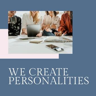 Utwórz szablon stylu mody psd dla małych firm