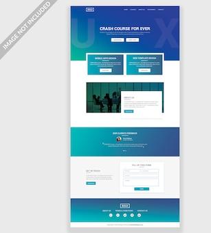 Ux webite psd template design