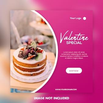 Valentine banner media społecznościowe post instagram
