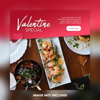 Valentine banner na post w mediach społecznościowych