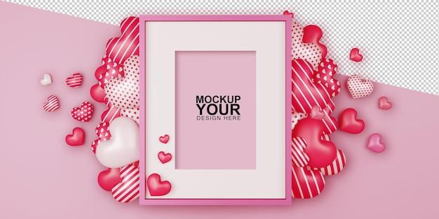 Valentine koncepcja tło w renderowaniu 3d