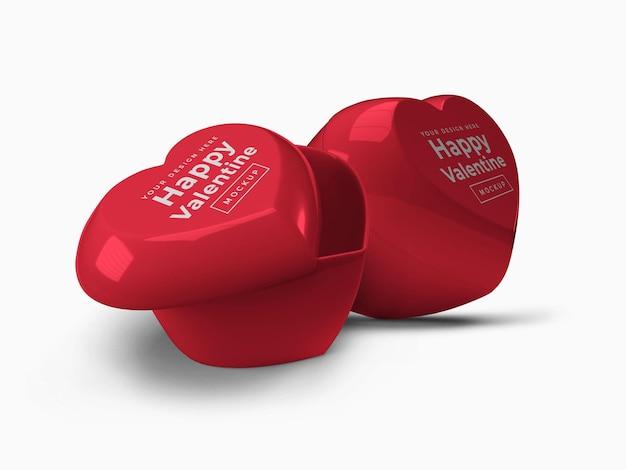 Valentine love heart pojemnik z makietą wieczka
