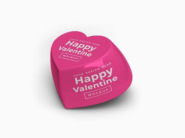 Valentine miłość serce pojemnik makieta projekt na białym tle