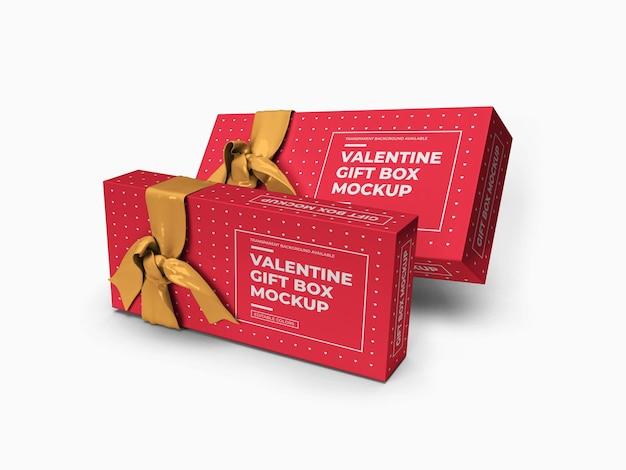 Valentine pudełko makieta na białym tle