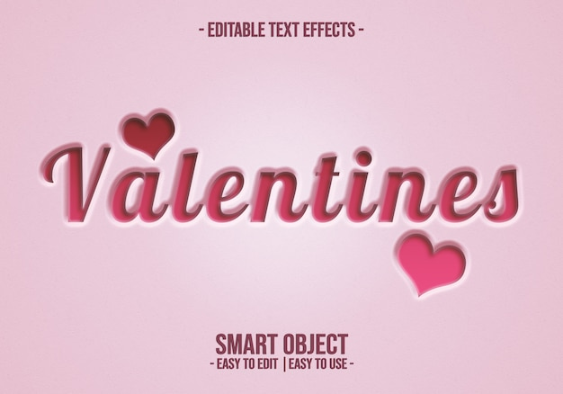 Valentine-text-style-effect