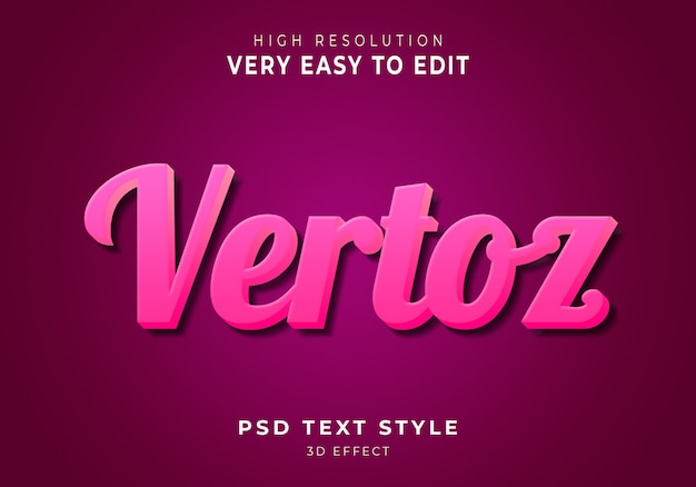 Vertoz nowoczesny efekt tekstowy