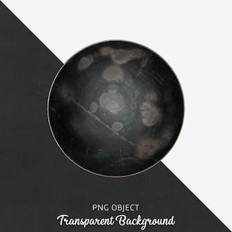Vintage czarny talerz do serwowania na przezroczystym