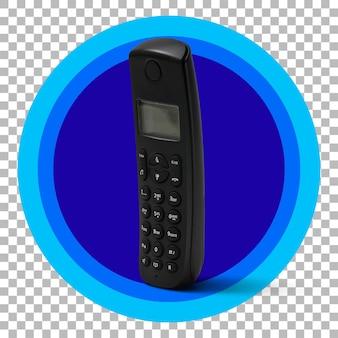 Vintage handphone na przezroczystym tle