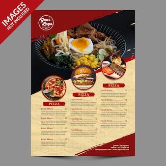 Vintage menu żywności i napojów najlepsze do promocji restauracji szablon psd premium