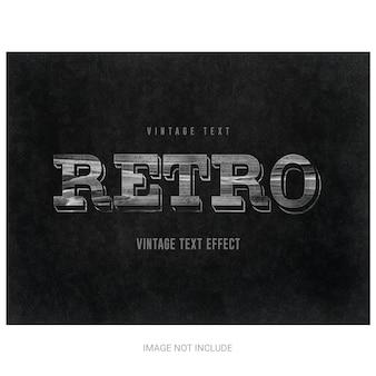 Vintage retro efekt tekstowy