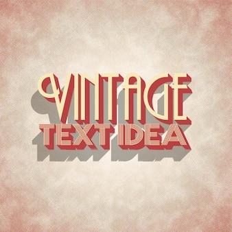 Vintage wzór liternictwo