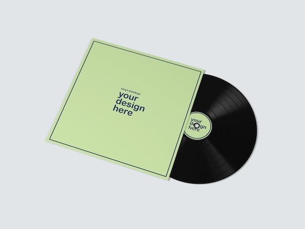 Vynil nagrywa album mockup