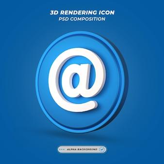 W tempie ikon w renderowaniu 3d