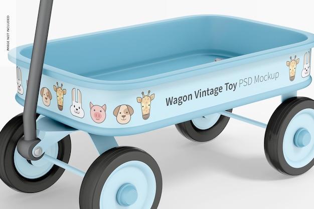 Wagon vintage toy makieta, zbliżenie