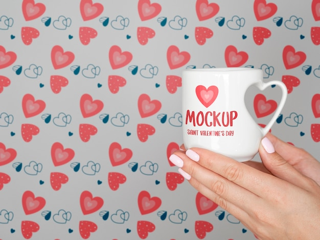 Walentynki minimalna koncepcja makiety
