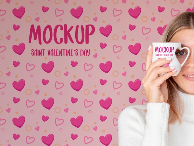 Walentynki Minimalna Koncepcja Makiety Darmowe Psd
