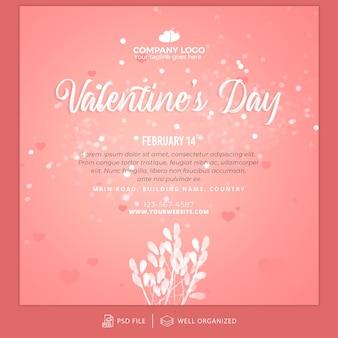 Walentynki na instagramie szablon postu i szablon banera