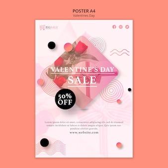 Walentynki plakat szablon ze zdjęciem