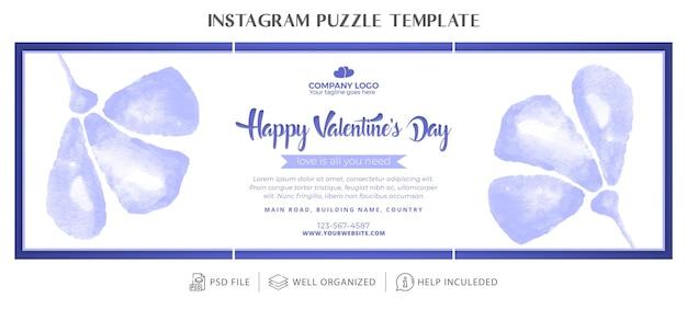 Walentynki puzzle instagram lub kolaż lub szablon siatki