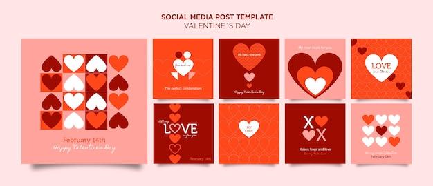 Walentynki szablon postów na instagramie