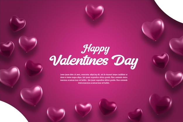 Walentynki Tło Z Serca Premium Psd
