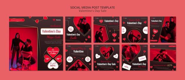 Walentynkowe posty na instagramie