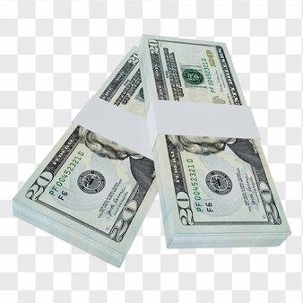 Waluta usa dolar 20: stos banknotów usa dolar usa