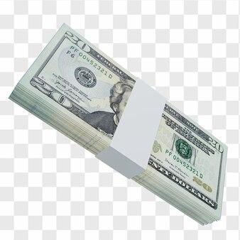 Waluta usa dolar 5: stos banknotów usa dolar usa
