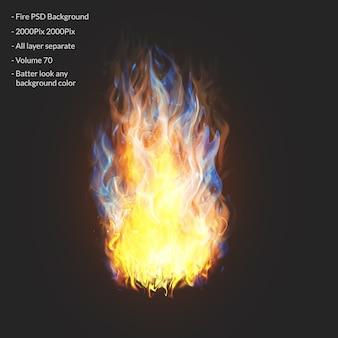 Warstwa efektu płomieni ognia