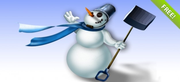 Warstwowe psd ilustracja snowman