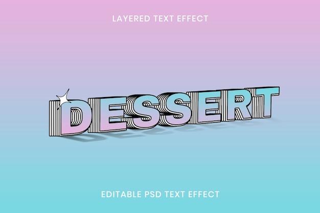 Warstwowy efekt tekstowy edytowalny szablon psd