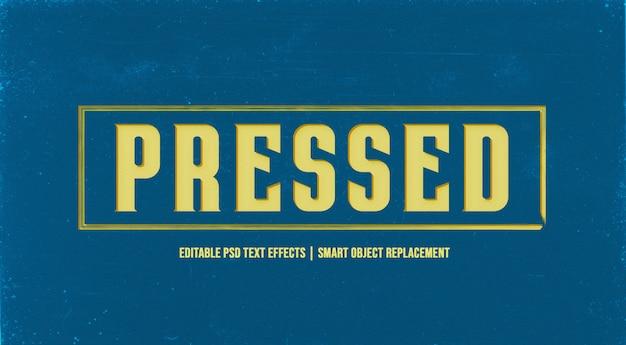Wciśnięty efekt stylu tekstu 3d na ścianie grunge