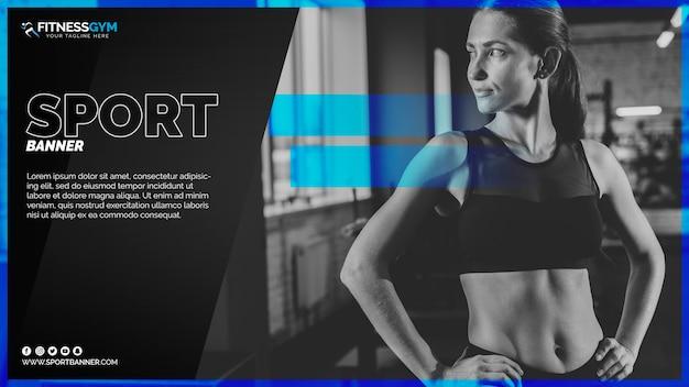 Web banner szablon z koncepcją sportu