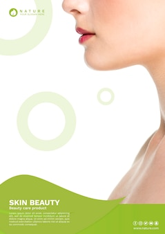Web banner szablon z koncepcją urody