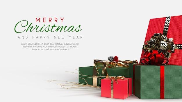 Wesołych świąt bożego narodzenia makieta transparent