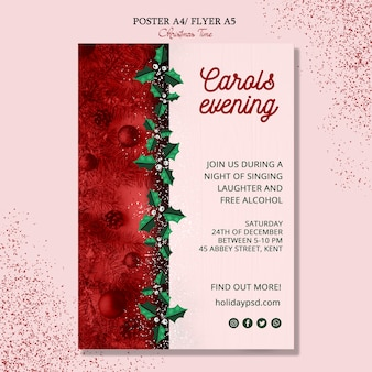Wesołych świąt bożego narodzenia plakat koncepcja