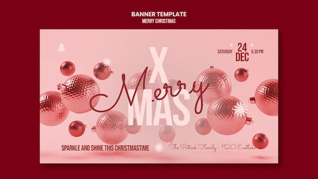 Wesołych świąt Bożego Narodzenia Szablon Transparent Darmowe Psd