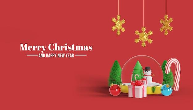 Wesołych świąt i szczęśliwego nowego roku 3d transparent tło