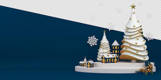 Wesołych świąt i szczęśliwego nowego roku renderowania 3d