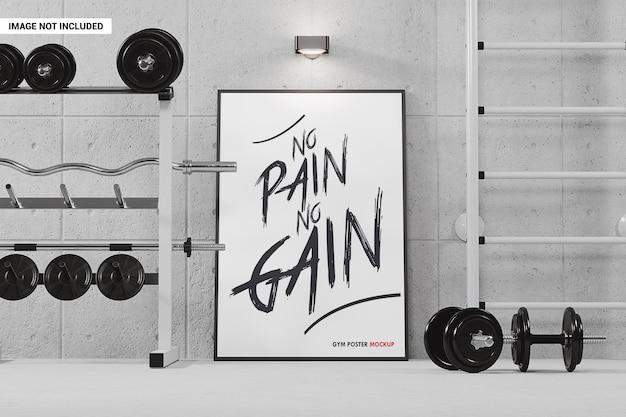 Wewnętrzna ramka plakatowa w makiecie siłowni